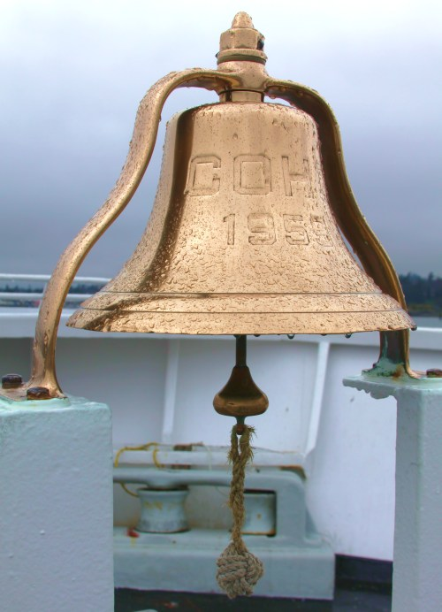 The bell of the Coho It's gleam says everything about the vessel and how she's run
