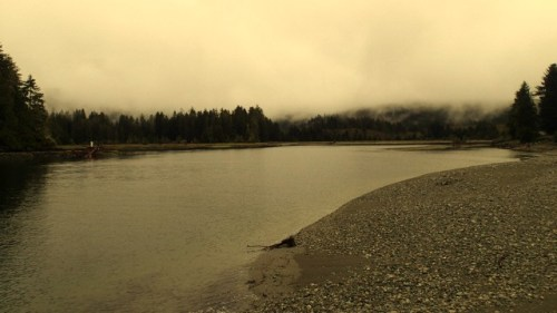 The confluence of the Gordon River and the Pacific Ocean. This is the southern end of the famous West Coast Trail