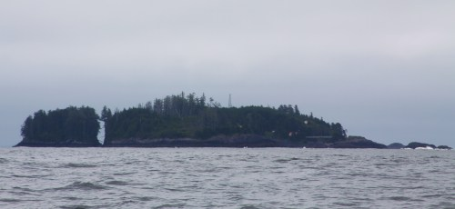 The crack out back. Egg Island from the north. The original light station was swept away by a Tsunami without trace several decades ago. Sleep tight.