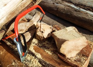 Cutting the sacred wood to size
