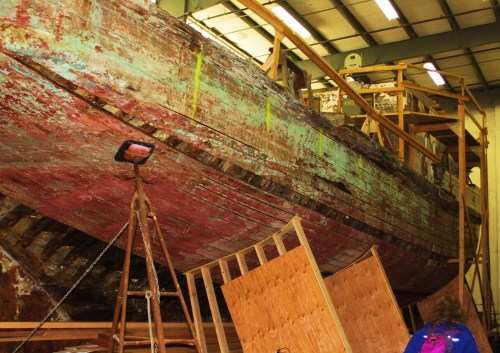 Western Flyer being reborn. Check out WesternFlyer.Org