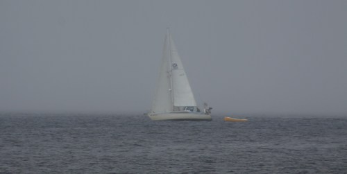 Two ships passing in the fog. Into the mystic once again.
