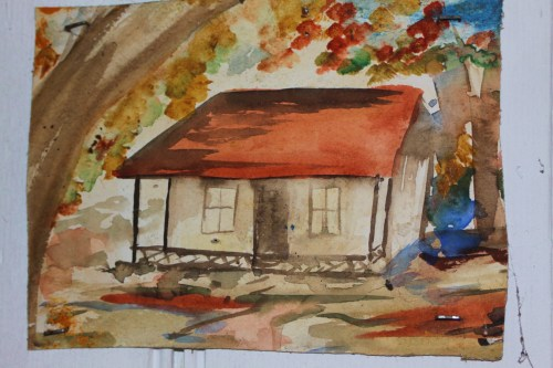 Don Wardill's painting of his house