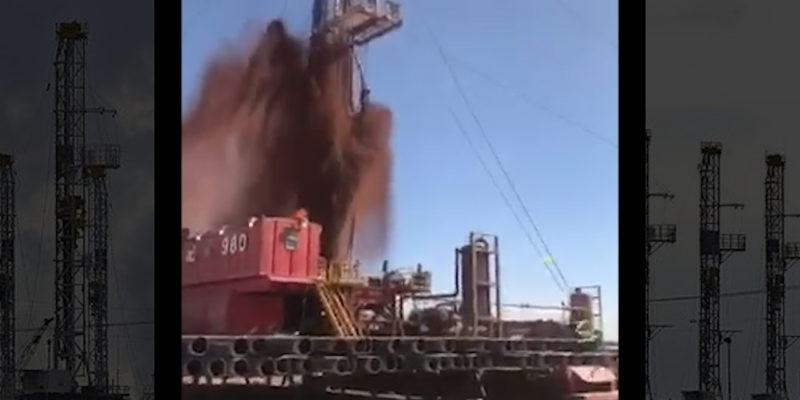 This is a video of Aztec Drilling rig 980. Turns out these boys had 3 events like this one while they were drilling intermedite. We call this one Clear The Floor Now! Pt 1.