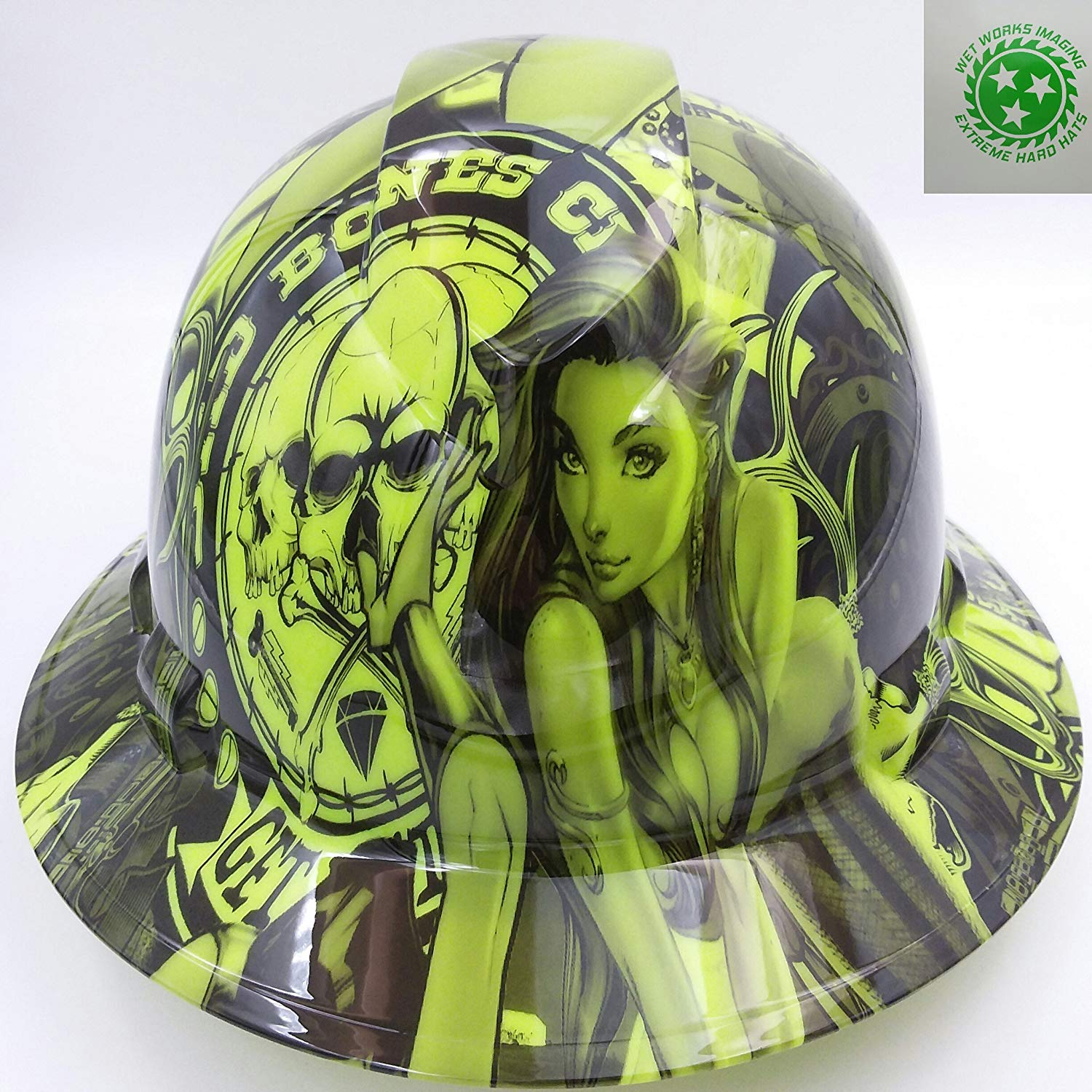 Green Bad Bones Hard Hat
