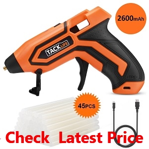 Tacklife PGG01B 3.6V Mini Cordless Glue Gun 2600mAh-18650 USB_