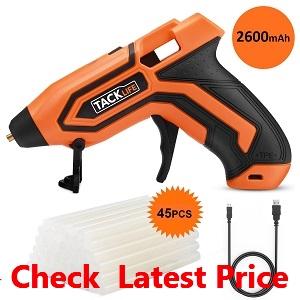 Tacklife PGG01B 3.6V Mini Cordless Glue Gun 2600mAh-18650 USB_