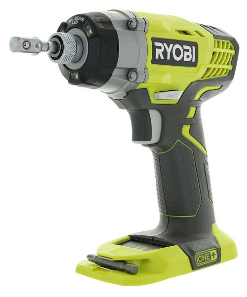 Ryobi One+ P236 18V 14 Inch 3,200 RPM 1,600 Inch Pounds Lithium Ion Cordless Impact Driver