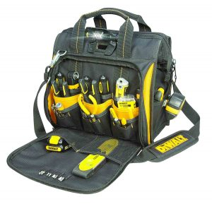 DEWALT-DGL573-Lighted-Technician's-Tool-Bag,-41-Pocket