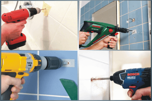 how to drill into tile the best way