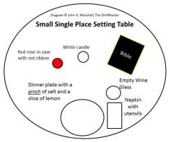 POW-MIA Hat Table Single