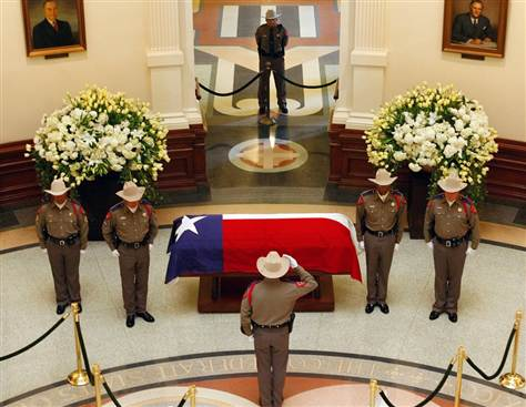 honor guard training: state flag on casket