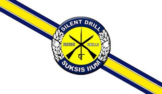 Malaysian Police Silent Drill Team Flag