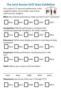 Joint Service Drill Team Exhibition Score-At-Home Sheet JPG