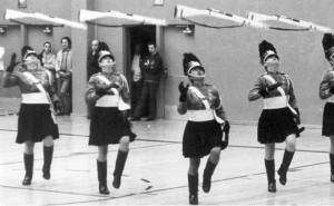 Perfect Rifle Toss, color guard, winter guard, armed drill team
