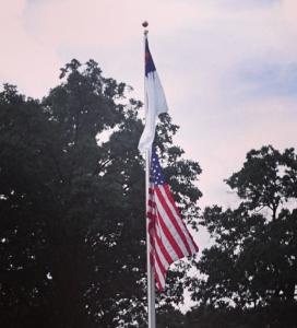 Christian over American Flag