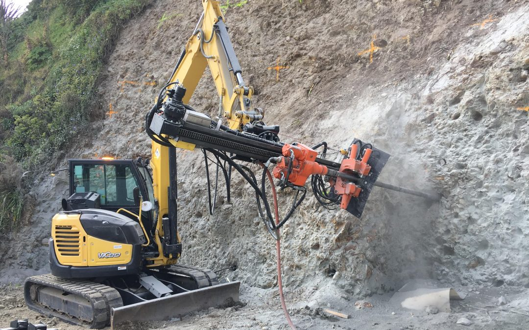 Great to see the Drilltechniques DTE3 Excavator attachment hard at work in New Zealand…