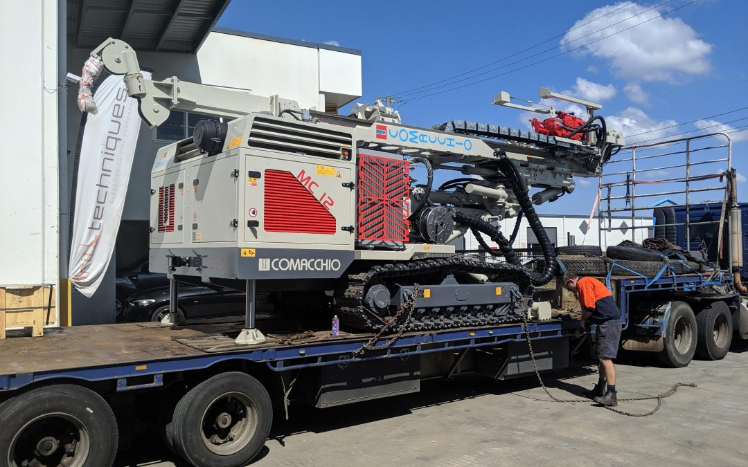 Directors Nikki and Brett of Cairns-based geotechnical and slope stabilization specialists have invested in their first Comacchio Drilling Hi-Tech rig as they take possession of their MC 12