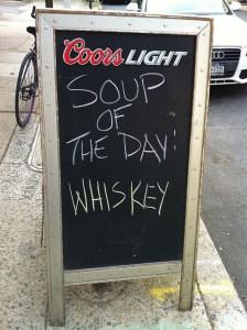 whisky soup