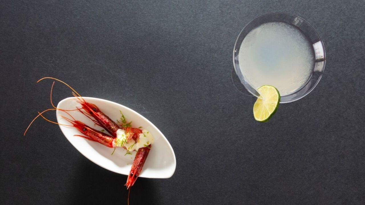 Margarita e gambero rosso