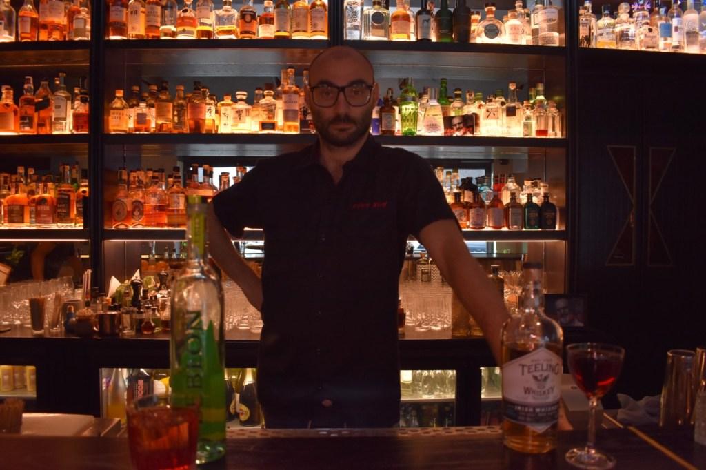 Davide Diaferia barman del Drink Kong di Roma