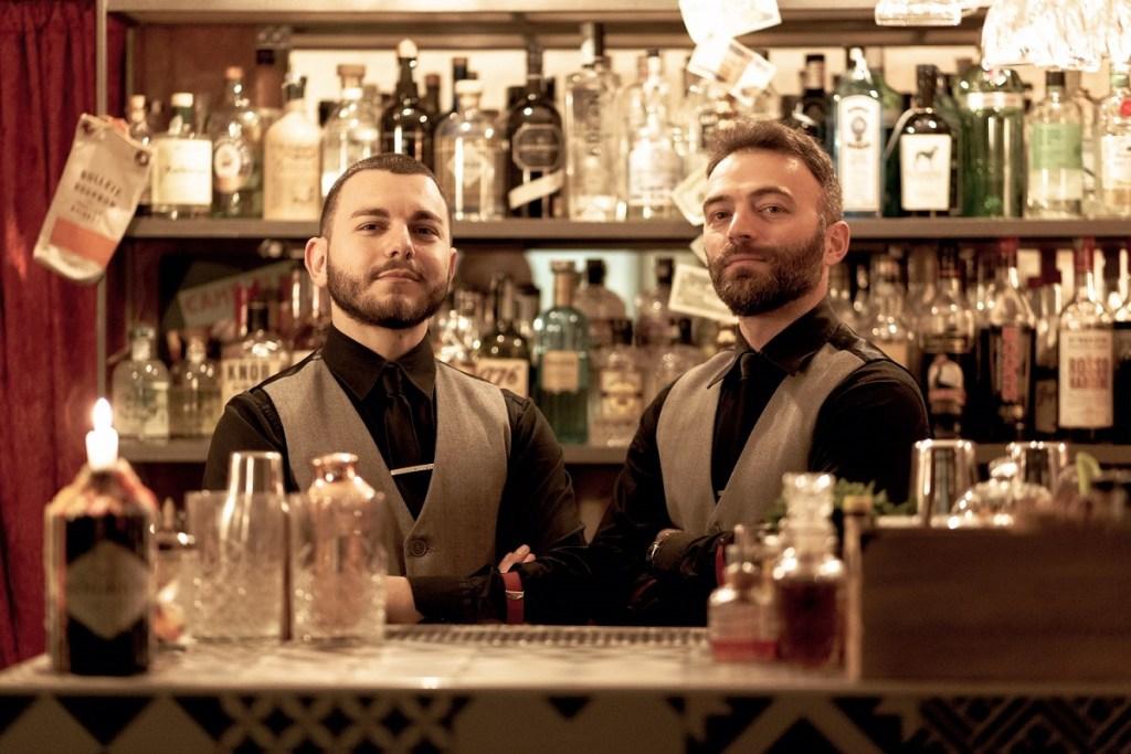 Giambattista Rizzi e Filippo Veneziani , proprietari e bartender del Southside Cocktail Bar di Monopoli