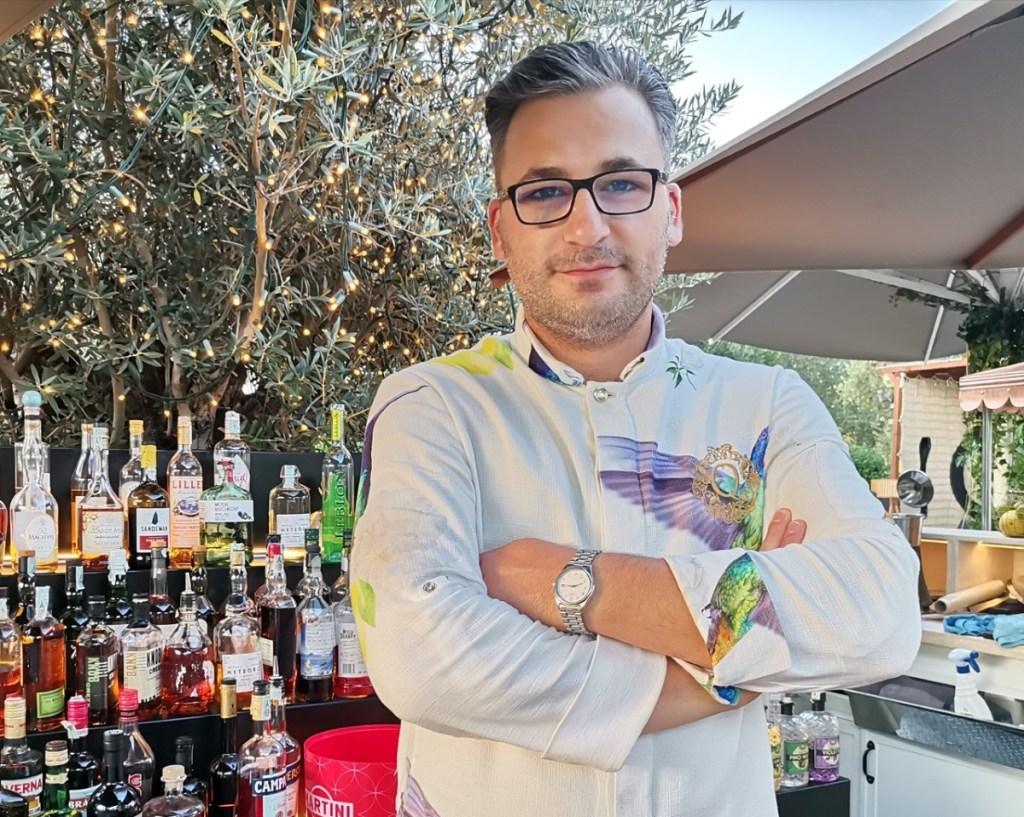Alessio Navacci barman di QVINTO di Roma