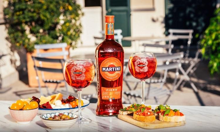 Martini fiero cocktail