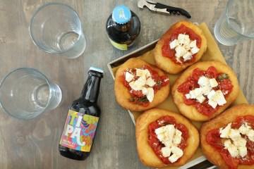 birra artigianale e pizza fritta