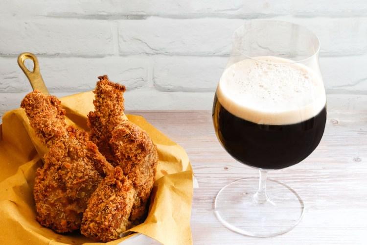 agnello in tempura e birra scura