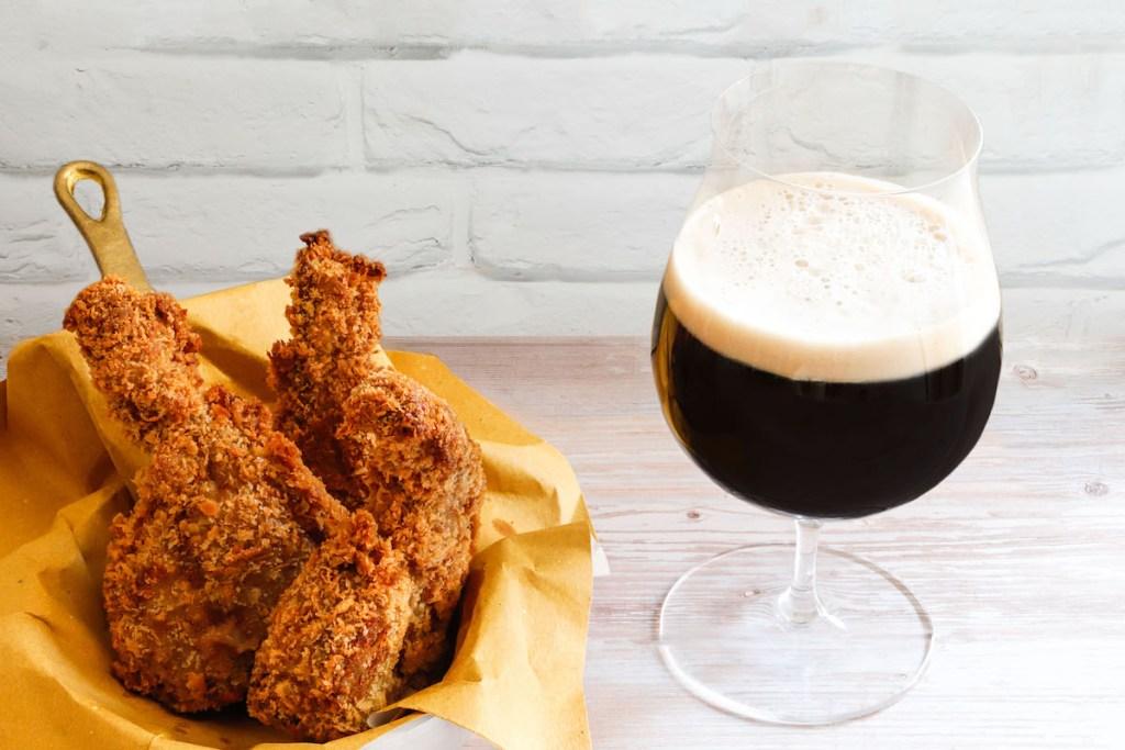 Costine in tempura e birra scura