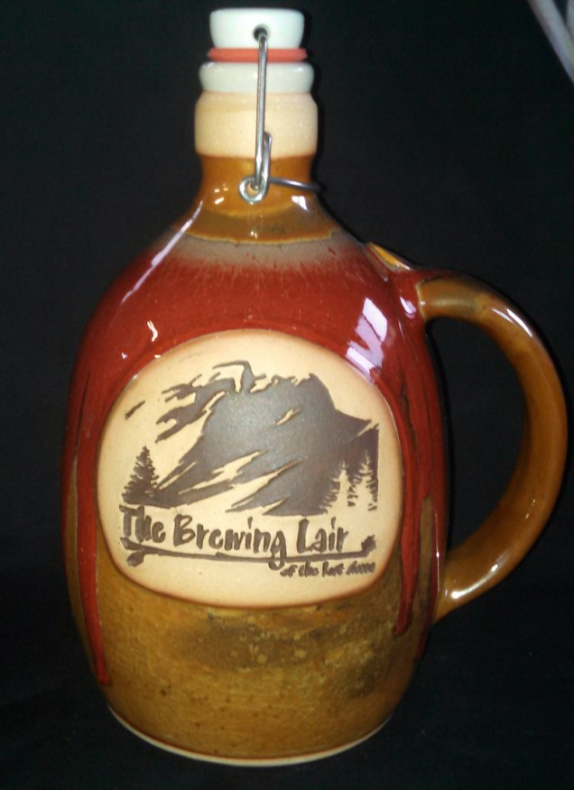 The Brewing Lair growlers by Joe Winter. Photo by Joe Winter.