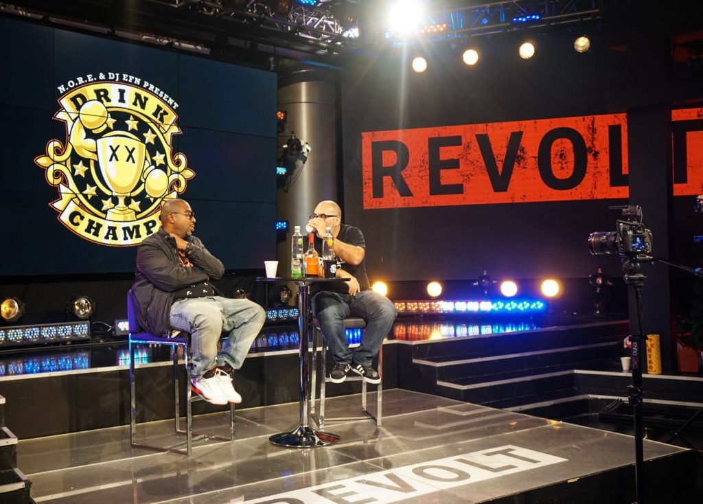 Image result for DRINK CHAMPS ON REVOLT TV