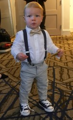 Getting ready to be the ring bearer
