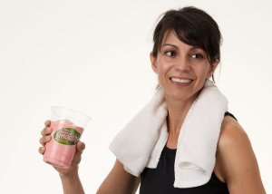 Lady Drinking DrinkFit Smoothie