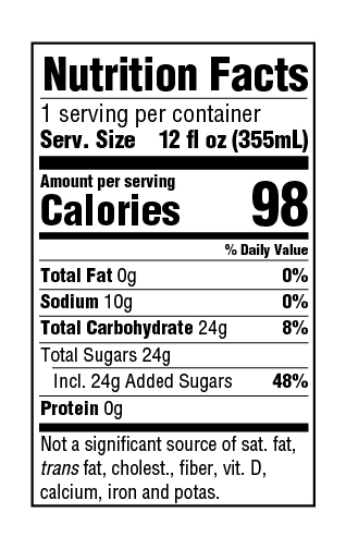 Not Your Father's Root Beer Nutrition Facts : father's, nutrition, facts, Sugar, Sweet