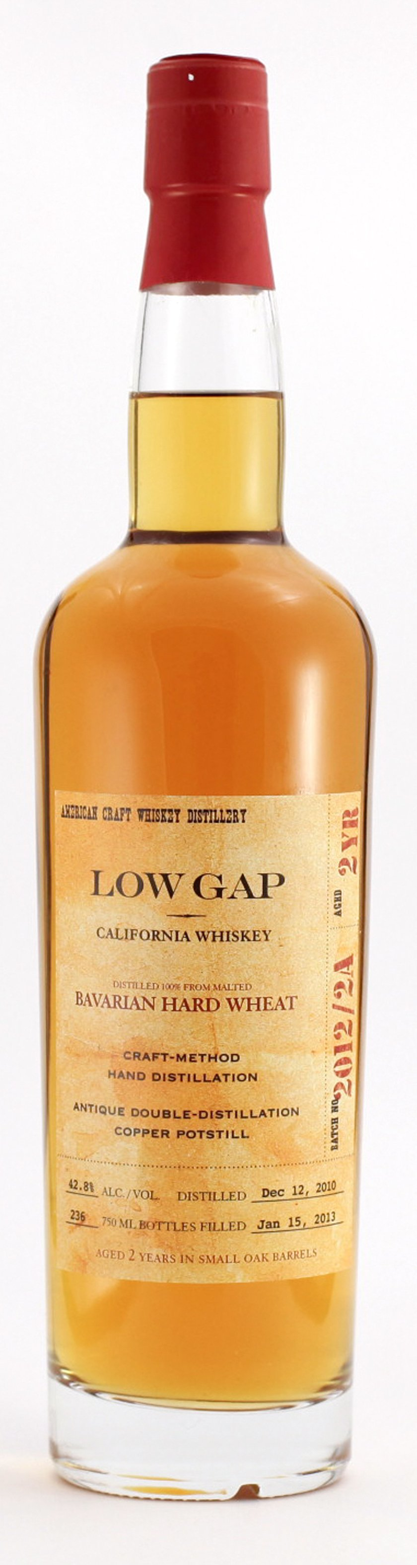 Low Gap California Wheat Whiskey 2 Years Old