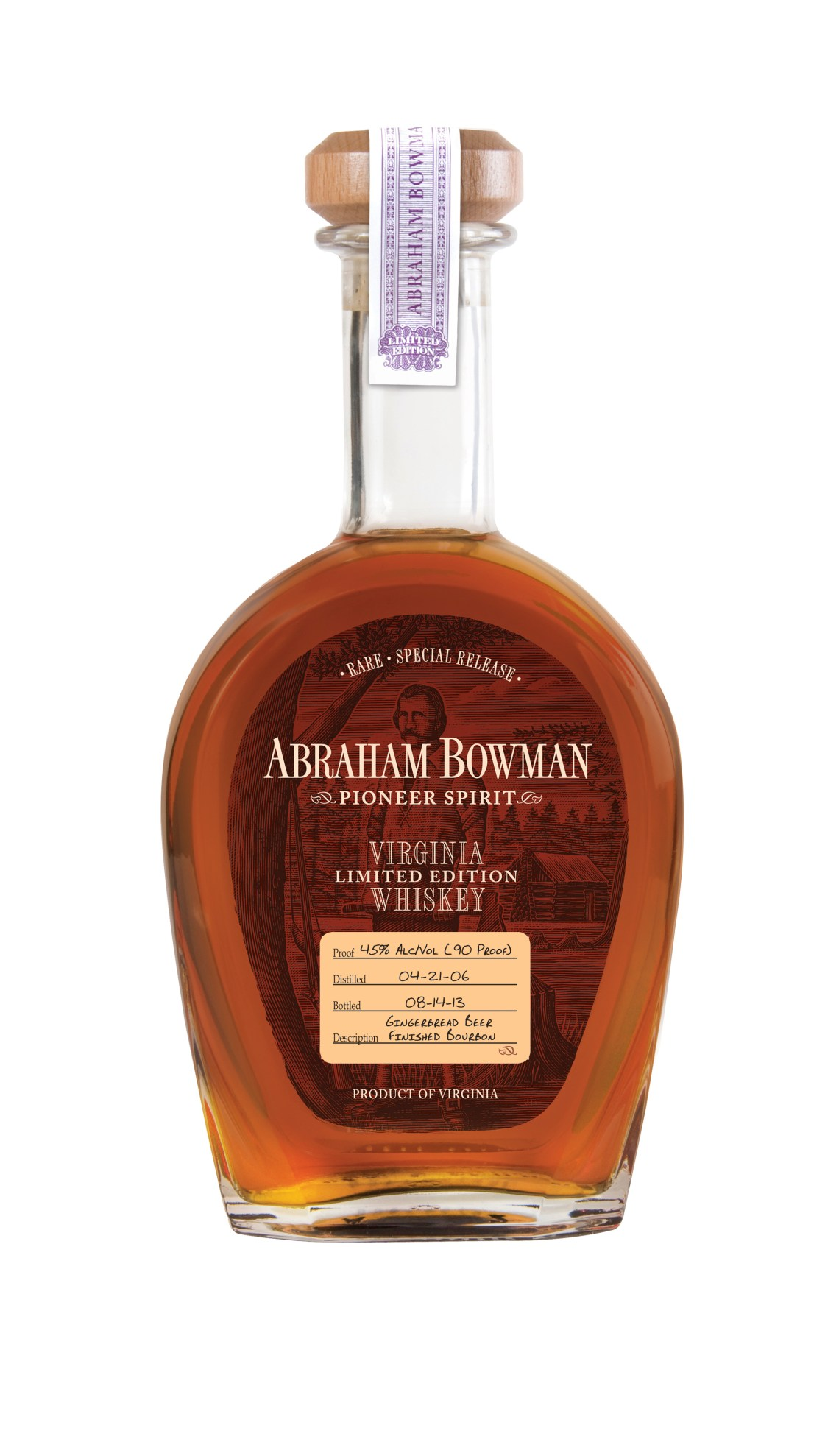 Abraham Bowman Gingerbread Beer Finished Bourbon