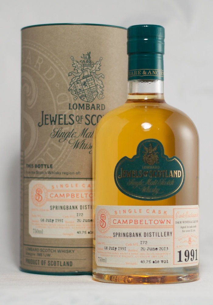 Lombard Jewels of Scotland Springbank 21 Years Old