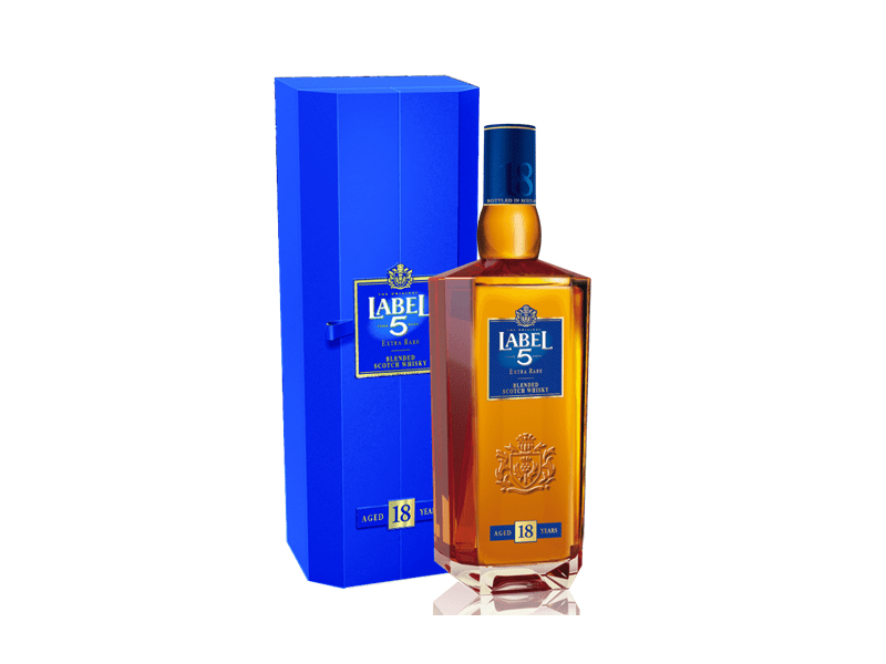 Label 5 Extra Rare 18 Years Old Blended Scotch Whisky