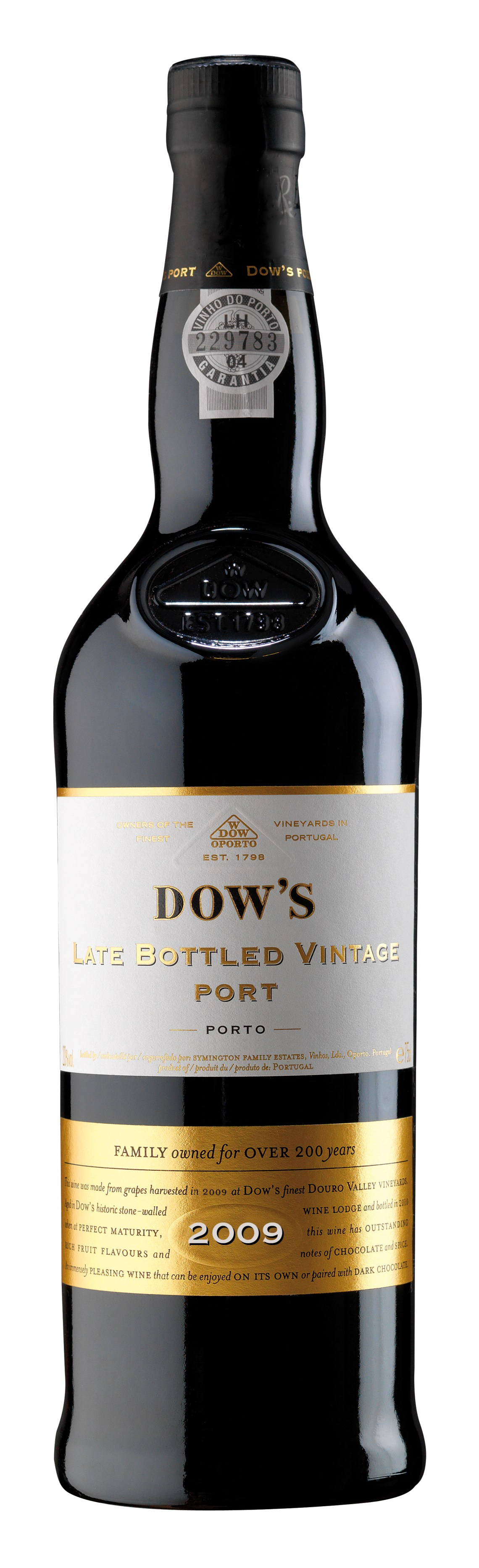 2009 Dow's Late Bottled Vintage Port