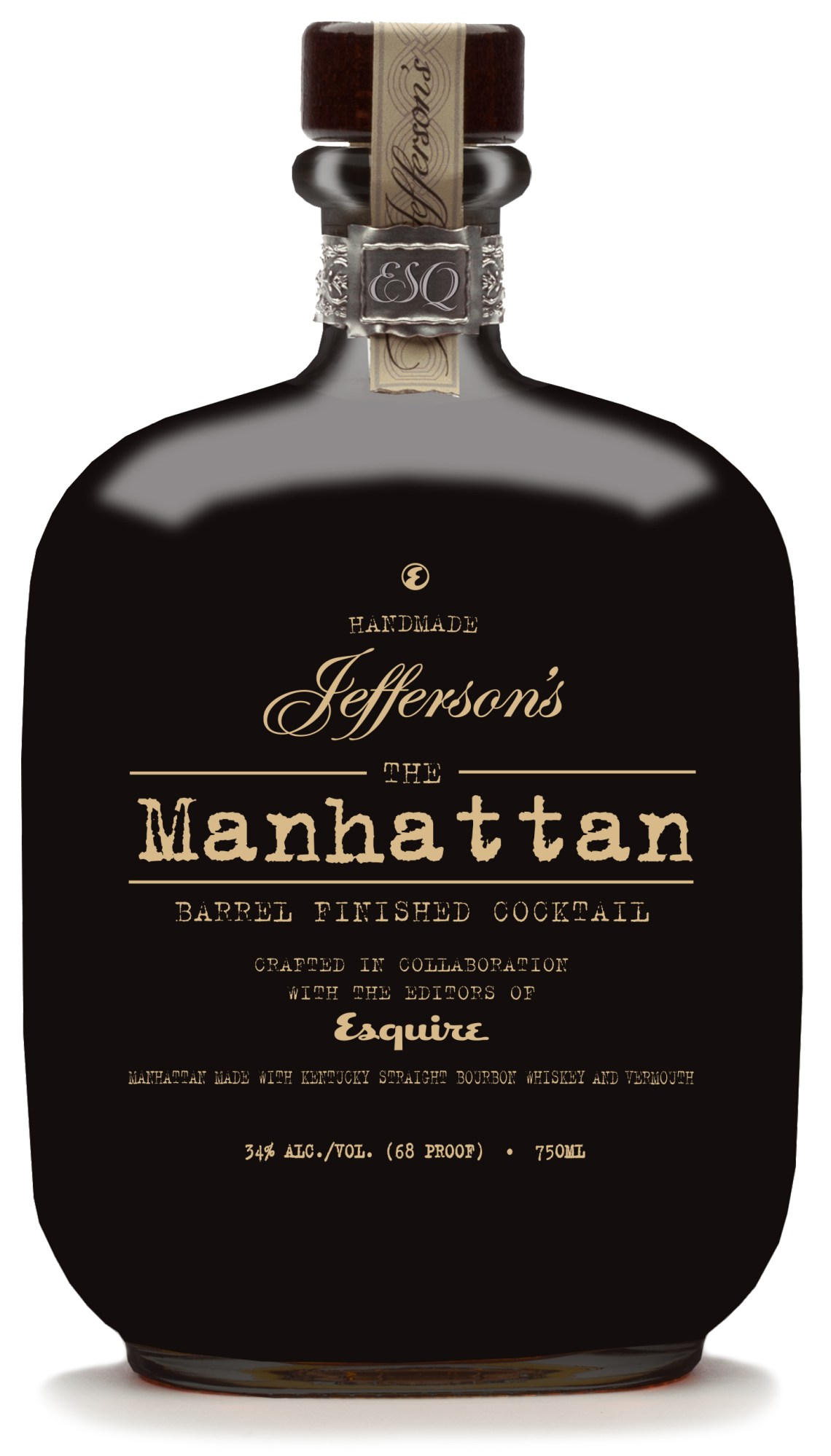 The Manhattan: Barrel Finished Cocktail from Jefferson's and Esquire