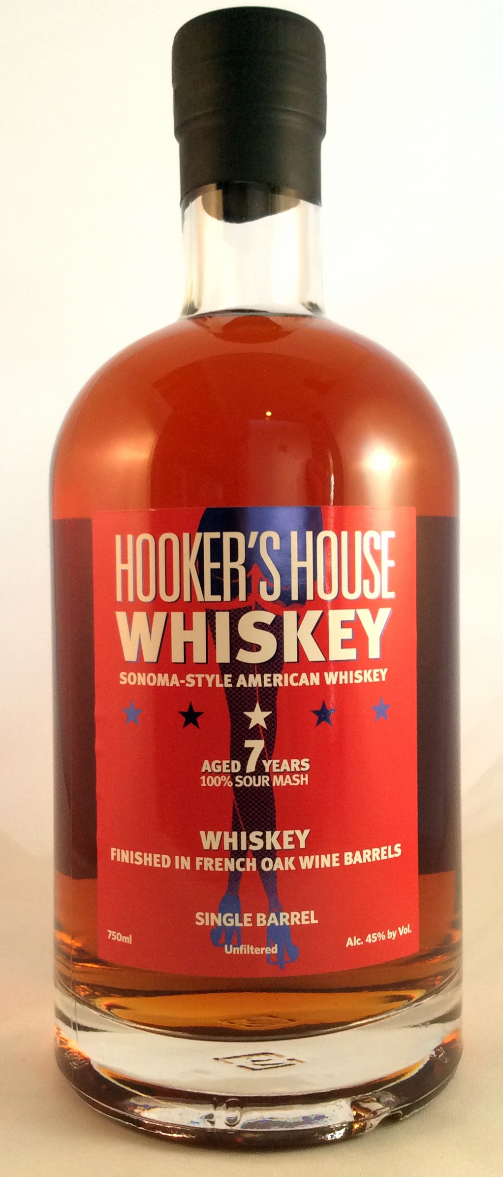 Hooker's House Sour Mash Whiskey 7 Years Old