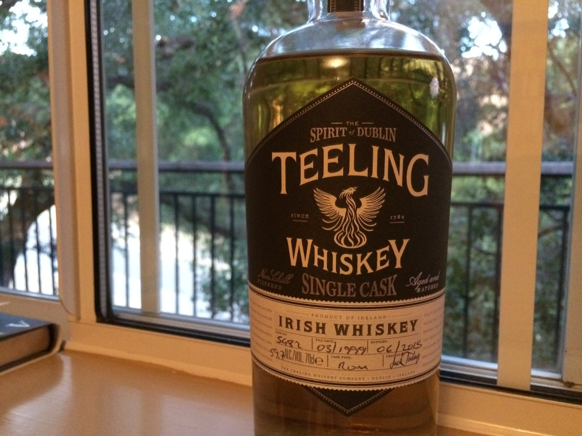Teeling Single Cask Rum Barrel Aged Irish Whiskey 16 Years Old
