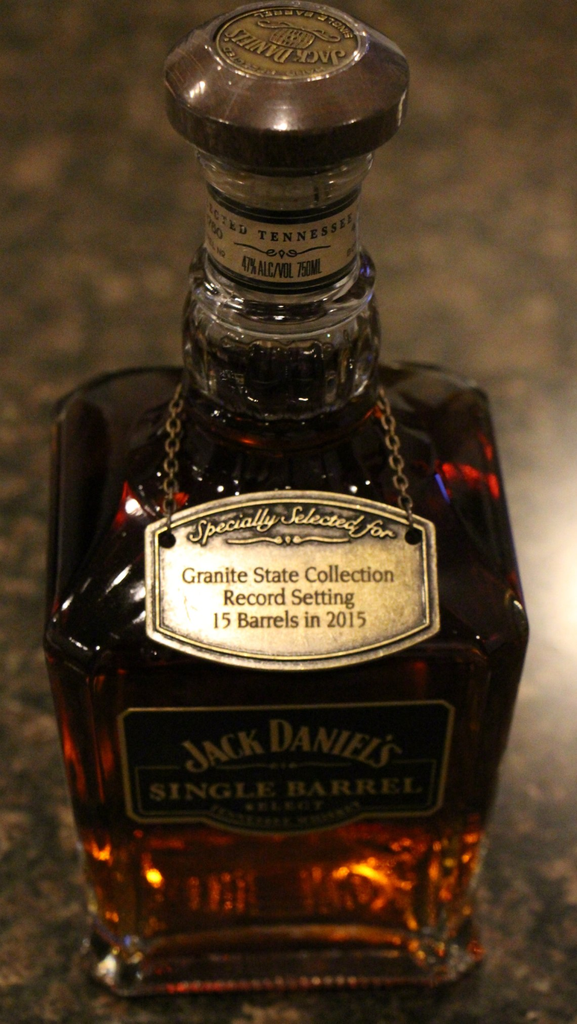 Jack Daniel's Single Barrel Select Granite State Collection Rick R-6 Barrel 15-1778