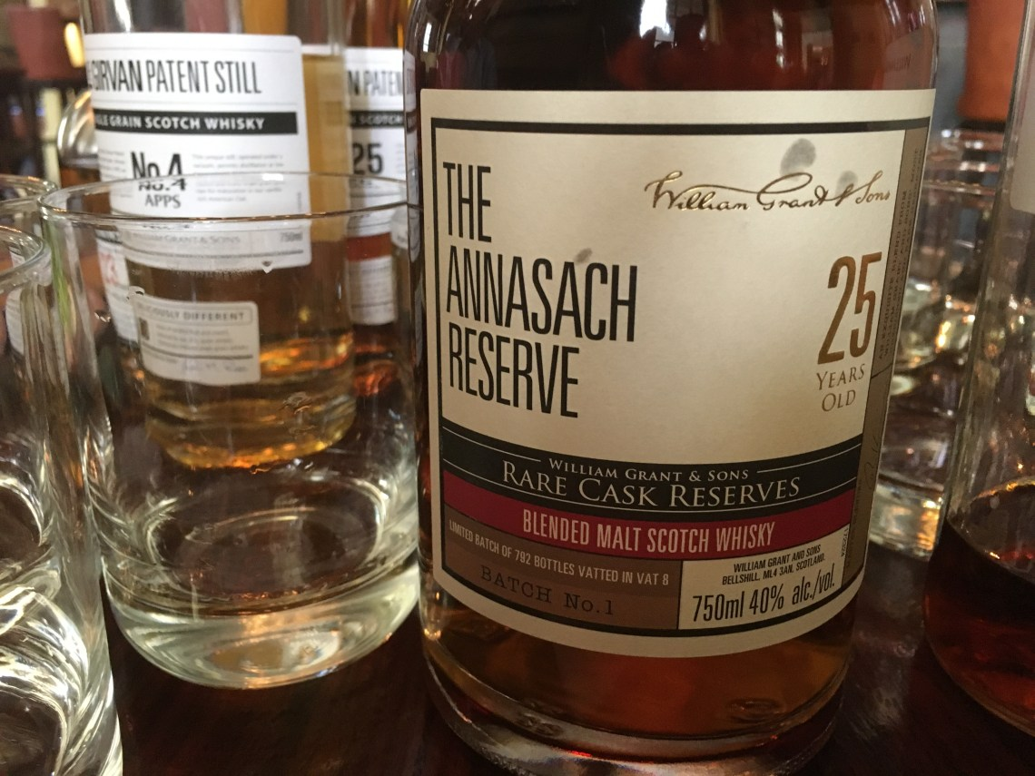 William Grant Rare Cask Reserves The Annasach Reserve 25 Years Old Batch #1