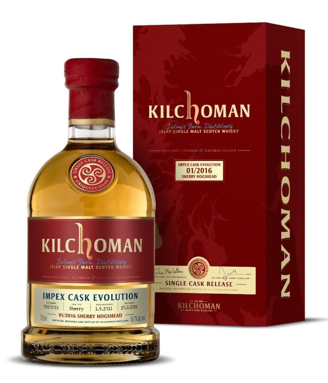 Kilchoman ImpEx Cask Evolution 2/2016 Bourbon Barrel