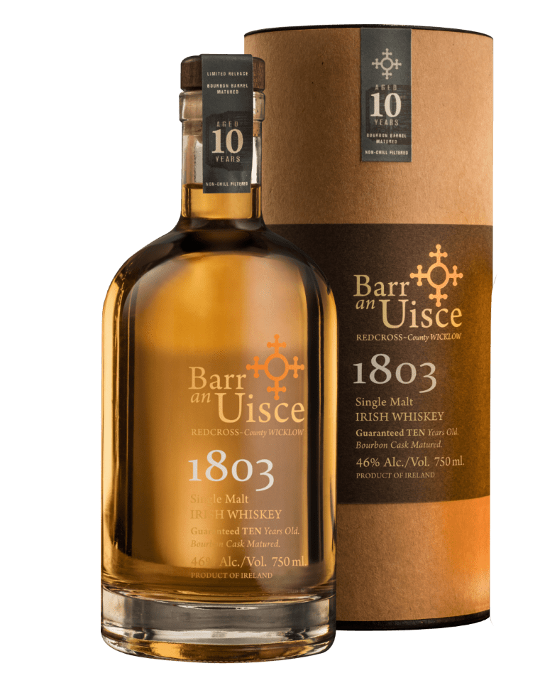 Barr an Uisce 1803 Single Malt Irish Whiskey 10 Years Old