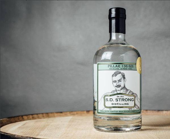 S.D. Strong Distilling Pillar 136 Gin