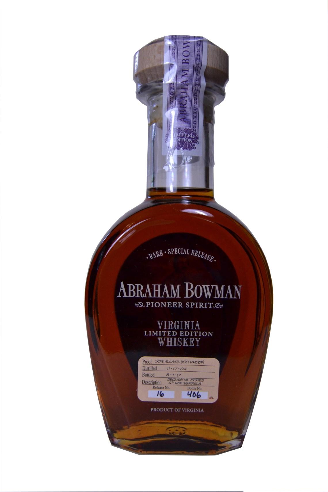 Abraham Bowman Sequential Series Bourbon - 2nd Use Barrels
